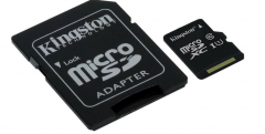Карта памяти microSDXC [класс 10/UHS-I] 128 GB Kingston Canvas Select+ SD адаптер (80/10 Mb/s) (SDCS