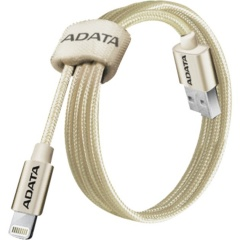 Кабель ADATA Lightning-USB для зарядки и синхронизации iPhone, iPad, iPod (сертиф. Apple) 1м, метал