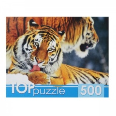 Пазлы 500эл 345*485 Два тигра TOPpuzzle БТП500-6797