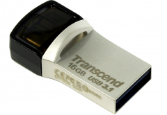 Память USB 3.1/USB Type-C,OTG 16 GB Transcend JetFlash 890, серебристый (TS16GJF890S)