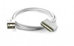 Кабель Gembird CC-USB-AP1MW  USB  AM/Apple для iPad/iPhone/iPod, 1м белый, блистер