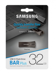 Внешний накопитель 32GB USB Drive <USB 3.1> Samsung BAR Plus (up to 200Mb/s) (MUF-32BE4/APC)