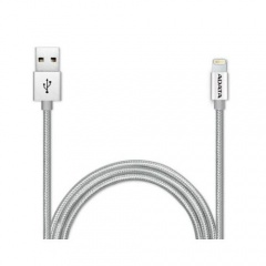 Кабель ADATA Lightning-USB для зарядки и синхронизации iPhone, iPad, iPod (сертиф. Apple) 1м, металл