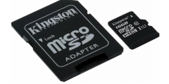 Карта памяти microSDHC [класс 10/UHS-I] 16 GB Kingston Canvas Select+ SD адаптер (80/10 Mb/s)